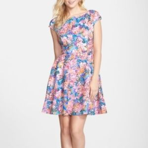 Floral Dress with Laser Cut Outs by Betsey Johnson